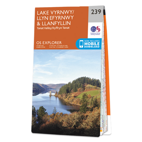 Map of Lake Vyrnwy & Llanfyllin