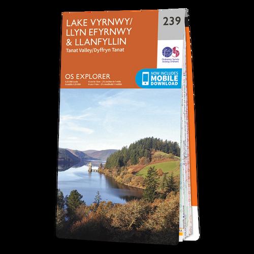 Map of Lake Vyrnwy & Llanfyllin