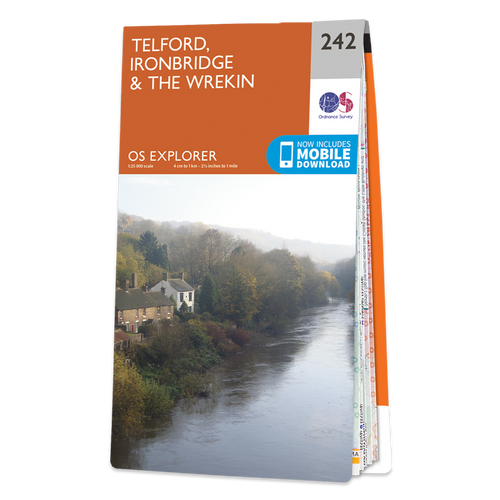 Map of Telford, Ironbridge & The Wrekin