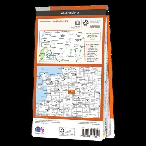 Map of Telford, Ironbridge & The Wrekin