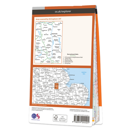 Map of Grantham Bottesford & Colsterworth