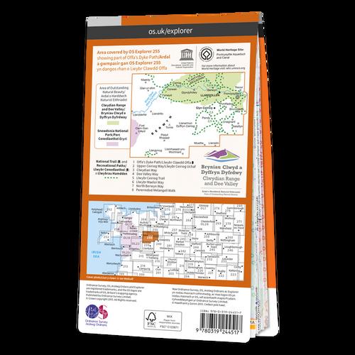 Map of Llangollen & Berwyn