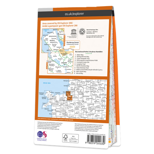 Map of Wirral & Chester