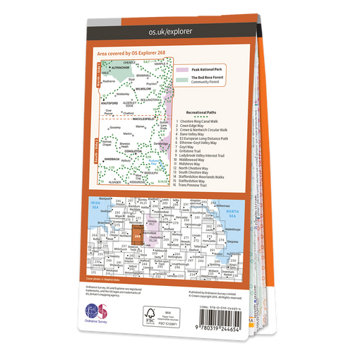 Map of Wilmslow, Macclesfield & Congleton