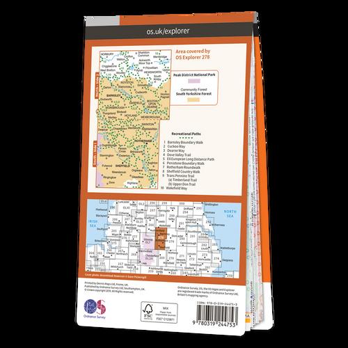 Map of Sheffield & Barnsley