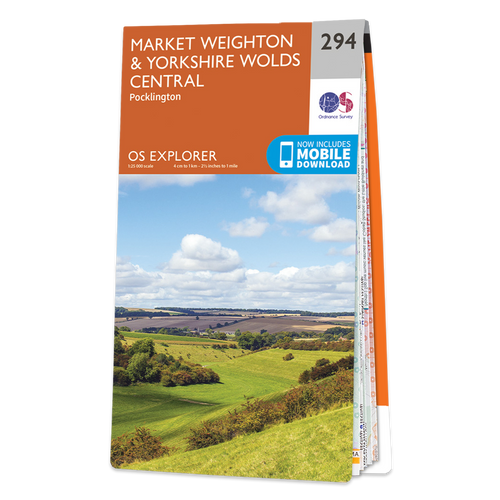 Map of Market Weighton & Yorkshire Wolds Central