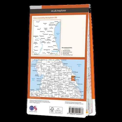 Map of Bridlington, Driffield & Hornsea
