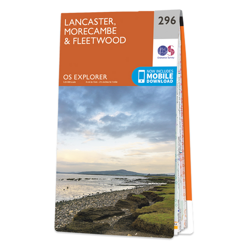 Map of Lancaster, Morecambe & Fleetwood