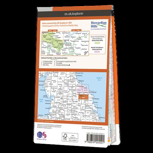Map of Howardian Hills & Malton