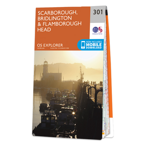 Map of Scarborough, Bridlington & Flamborough Head