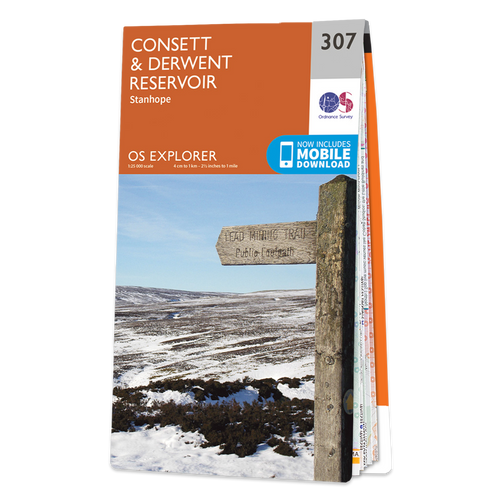 Map of Consett & Derwent Reservoir