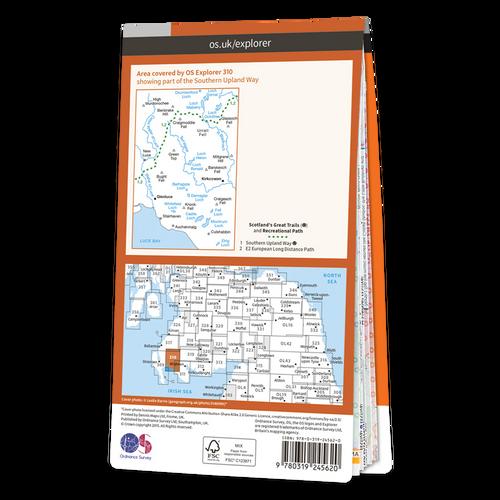 Map of Glenluce & Kirkcowan