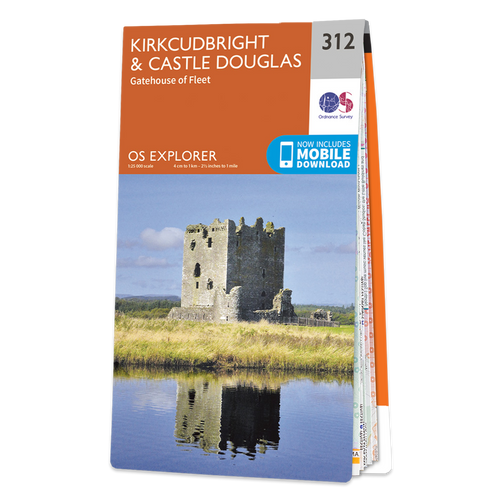 Map of Kirkcudbright & Castle Douglas