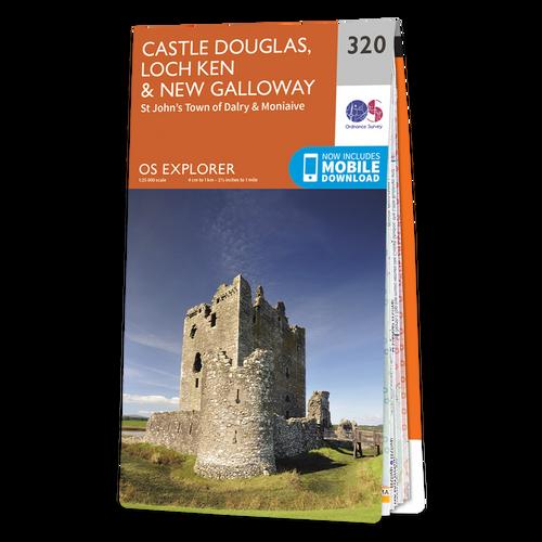 Map of Castle Douglas, Loch Ken & New Galloway