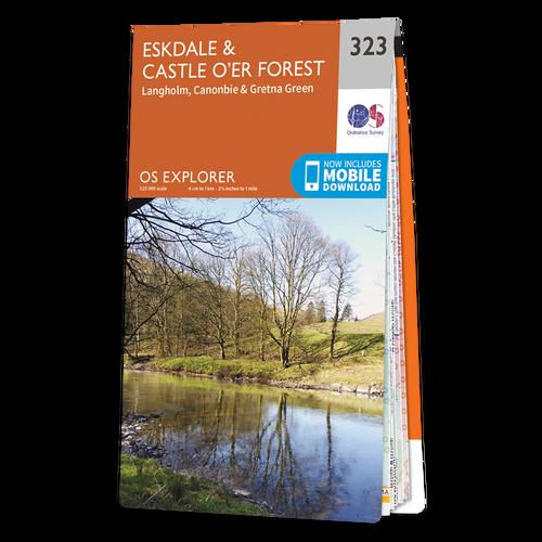 Map of Eskdale and Castle O'er Forest