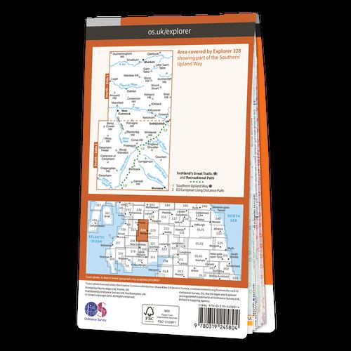 Map of Sanquhar & New Cumnock