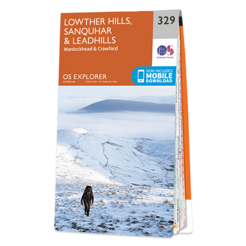 Map of Lowther Hills, Sanquhar & Leadhills