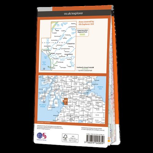 Map of Kilmarnock & Irvine