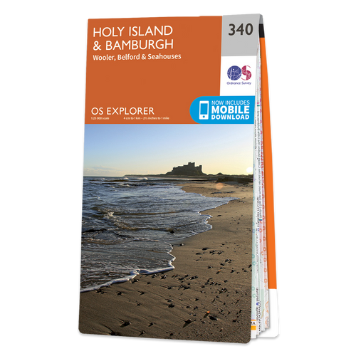 Map of Holy Island & Bamburgh