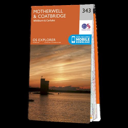 Map of Motherwell & Coatbridge