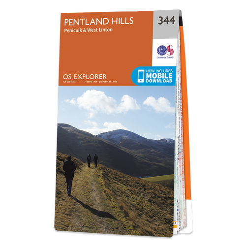 Map of Pentland Hills