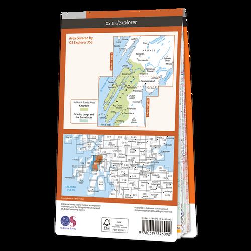 Map of Lochgilphead & Knapdale North