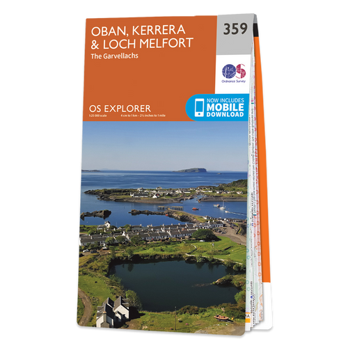 Map of Oban, Kerrera & Loch Melfort