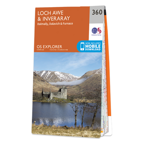 Map of Loch Awe & Inveraray