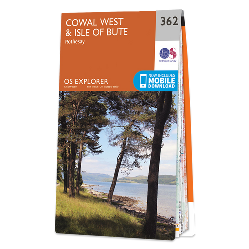 Map of Cowal West & Isle of Bute