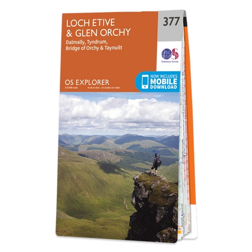 Map of Loch Etive & Glen Orchy