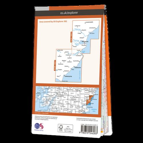 Map of Arbroath, Montrose & Carnoustie