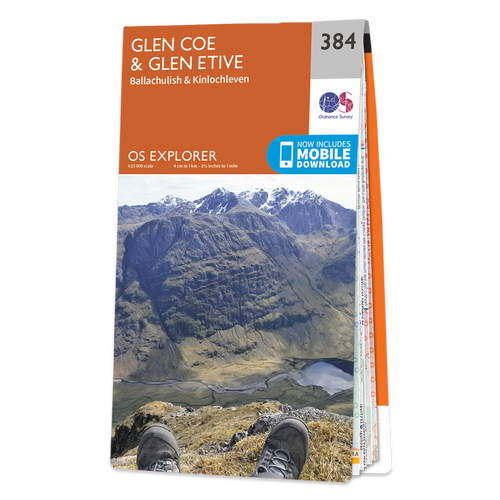 Map of Glen Coe & Glen Etive