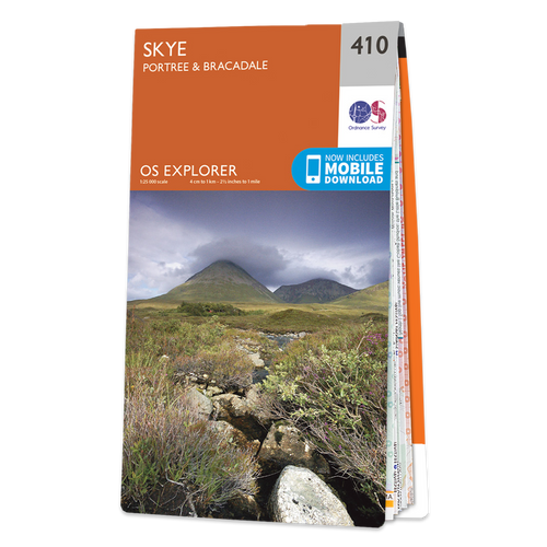 Map of Skye - Portree & Bracadale