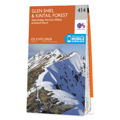 Map of Glen Shiel & Kintail Forest