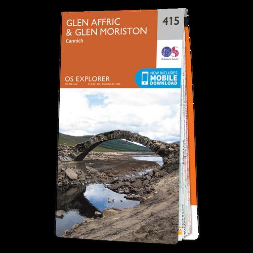 Map of Glen Affric & Glen Moriston