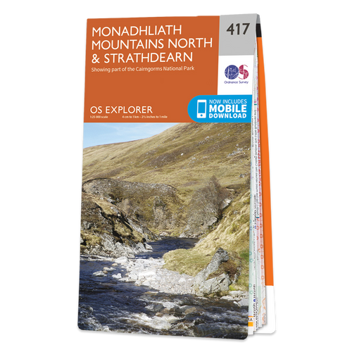 Map of Monadhliath Mountains North & Strathdearn
