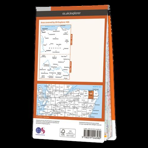 Map of Banff, Macduff & Turriff