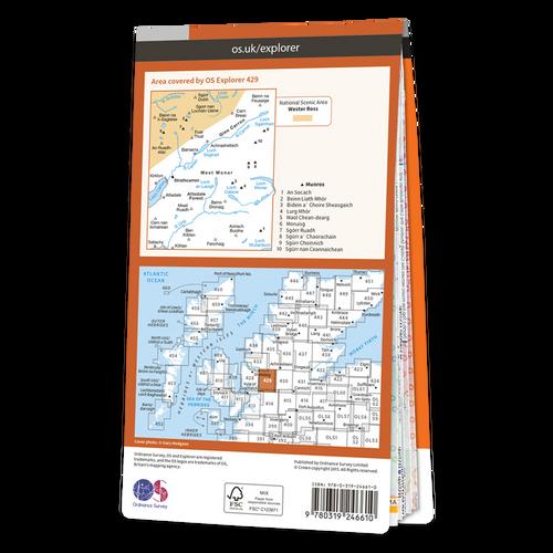 Map of Glen Carron & West Monar