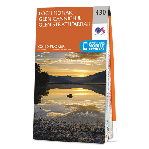 Map of Loch Monar, Glen Cannich & Glen Strathfarrar