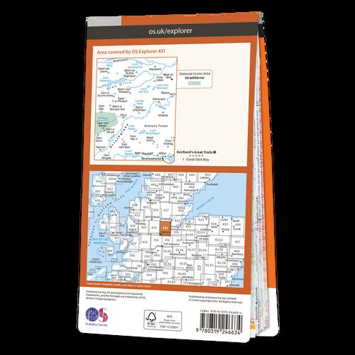 Map of Glen Urquhart & Strathglass