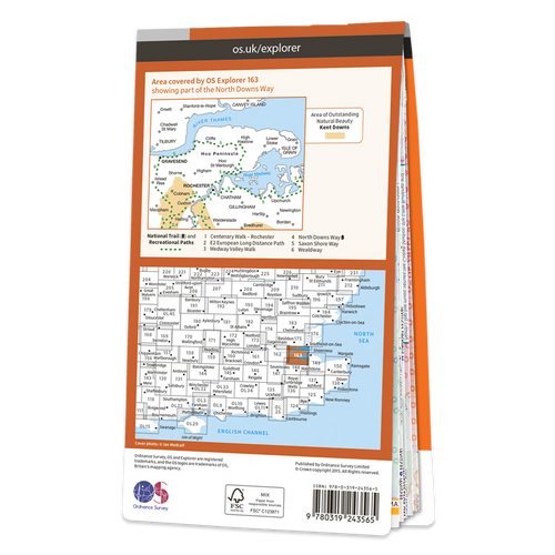 Map of Gravesend & Rochester