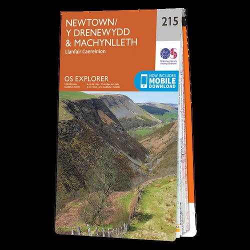 Map of Newtown & Machynlleth