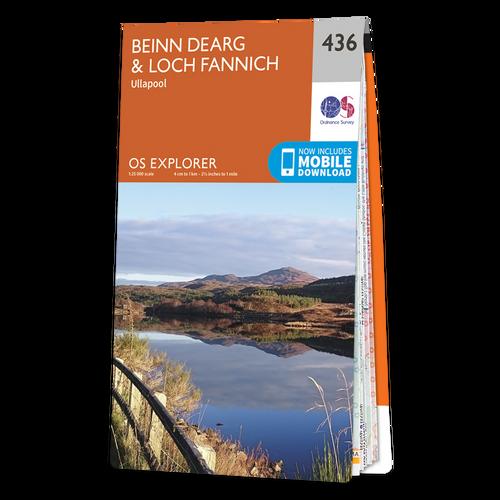 Map of Beinn Dearg & Loch Fannich