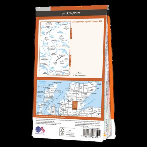 Map of Ben Wyvis & Strathpeffer