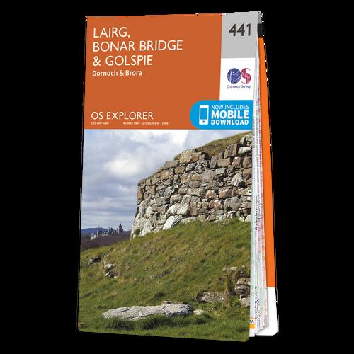 Map of Lairg, Bonar Bridge & Golspie