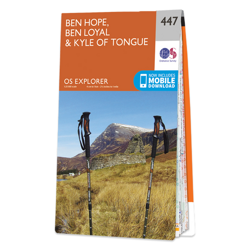 Map of Ben Hope, Ben Loyal & Kyle of Tongue