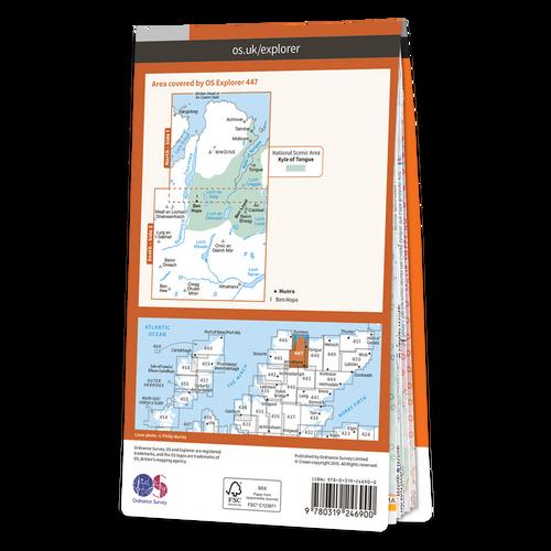 Map of Ben Hope, Ben Loyal & Kyle of Tongue