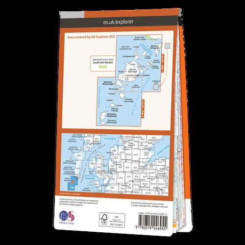 Map of Barra & Vatersay