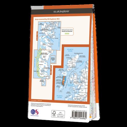 Map of Benbecula & South Uist, Eriskay
