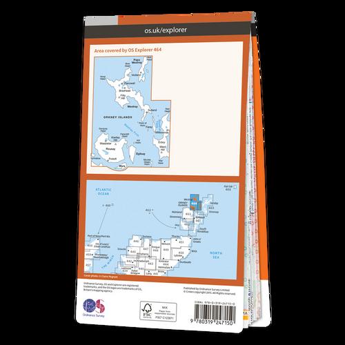 Map of Orkney - Westray, Papa Westray, Rousay, Egilsay & Wyre